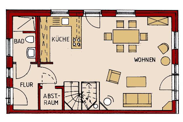 ferienhaus bi de s d 21a nieblum f hr r umlichkeiten. Black Bedroom Furniture Sets. Home Design Ideas